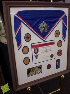 Eagle Scout Frame eagles-are-in-the-house Scout Mom, Cub Scouts, Girl Scouts, Eagle Scout Ceremony, Award Display, Display Ideas, Eagle Project, Scouts Of America, Scout Camping