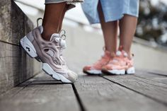 "The Reebok Instapump Fury. ""Rustic Clay"" and ""Beach Stone"" colorways."