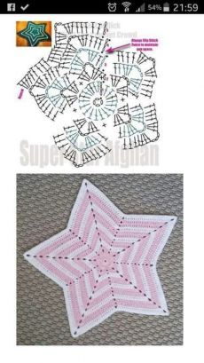 Gehäkelter sternförmiger Teppich Tapis en forme d'étoile au Crochet Gehäke. Gehäkelter sternförmiger Teppich Tapis en forme d'étoile au Crochet Gehäkelter sternförmiger Teppich Crochet Diy, Crochet Lovey, Crochet Amigurumi, Crochet Motifs, Crochet Diagram, Crochet Stitches, Crochet Star Blanket, Crochet Security Blanket