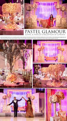 pastel glamour wedding by design house decor