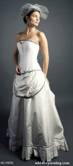 This would be awesome for like a throw back wedding theme!!!    wedding dress - WhidbeySewing