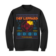 Def Leppard Official Store | NEW - Ugly Def Leppard Christmas Crewneck Sweatshirt