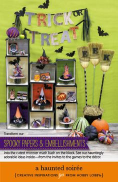 Transform our spooky papers & embellishments into the cutest monster mash bash on the block. See our hauntingly adorable ideas inside—from the invites to the games to the décor.