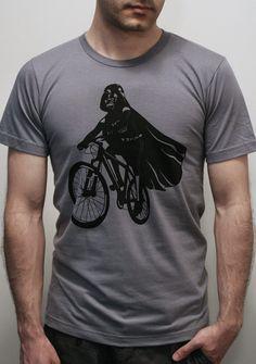 Darth Vader is riding it. #starwars #bike #nerd #shirt #tshirt