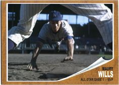 Going Horizontal Most collectors are aware of the story of the missing Maury Wills Topps cards, Topps was told he would never ma. Playing For Keeps, Kids Playing, Maury Wills, Baseball Photography, Dodger Blue, Star Cards, Mickey Mantle, Pittsburgh Pirates, Los Angeles Dodgers