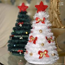 Новогодние вязаные елочки с МК от Ирины Бурковой.
