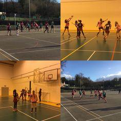 Indoor and outdoor netball matches #abbotsholmeschool #wednesdays #netball