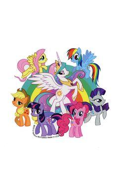 MY LITTLE PONY Little Pony Cake, My Little Pony Birthday Party, Mlp My Little Pony, My Little Pony Friendship, Princesa Celestia, Daddys Lil Monster, Cute Ponies, Little Poney, Rainbow Dash