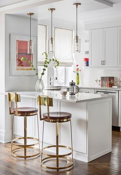 Charming Small White Kitchen Boasts A Sink Fixed In White Marble  Countertops Placed Atop White Shaker Part 53