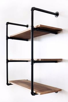 Turn any bare wall into a stylish display with this eye-catching floating shelf set, an industrial-inspired aesthetics, the perfect pick for offering the rustic charm of modern farmhouse-inspired design to your abode. Floating Storage Shelves, Rustic Shelves, Vintage Display, Rustic Charm, Modern Farmhouse, Wall Mount, Shelf, Aesthetics, Industrial