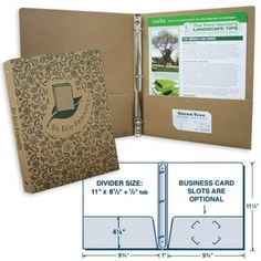 USA Made Recycled Kraft Chipboard 3-Ring Binder | Eco Promotional Products, Environmentally and Socially Responsible Promotional Products