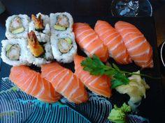 - Tempura maki and Salmon nigeri sushi