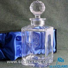 Cunningham Clan Crest Crystal Decanter