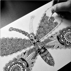 Butterfly Paper Cutting in Progress by all things paper, via Flickr