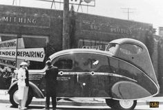 '36 Mack armored bank van with tail-gunner.