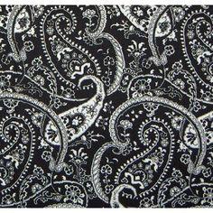 Black and White Paisley BANDANA Bandanna Hairwrap Headwrap review | buy, shop with friends, sale | Kaboodle