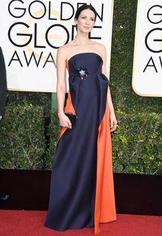 91cabb805b0 Caitriona Balfe in Delpozo - 74th Golden Globes Winona Ryder