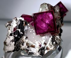 Fluorite, Quartz and Wolframite - From the Hunan Province in China,