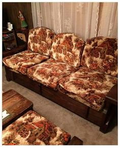 Remember when, that wood frame furniture is as ugly now as it was back then