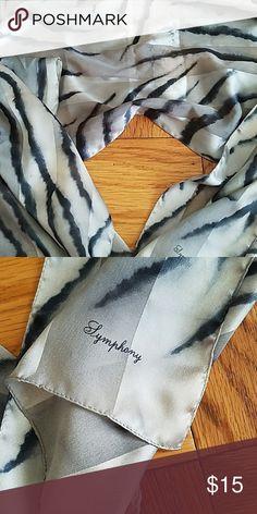 Woman's scarve Zebra print silky scarve Accessories Scarves & Wraps