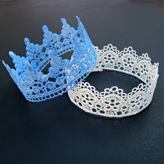 We spotted these LACE CROWNS a while back and have had them on our to do list like forever. Such a beautiful idea and yet suprisingly easy. Once you make one, I bet you will be hooked and make many…