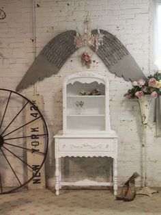beautiful classy white shabby chic things | shabby chic china cabinet