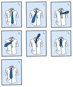The Four in Hand Knot  (also known as the schoolboy knot or footballer's knot)  To tie the Four in Hand Knot, select a necktie of your choice and stand in front of a mirror. Then simply follow the steps shown.