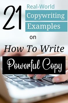 In this blog post, you'll discover how to write brilliant copy that SELLS from these 21 real-life copywriting examples. #copywriting #advertising Business Marketing, Content Marketing, Internet Marketing, Business Tips, Online Marketing, Media Marketing, Online Business, Writing Tips, Blog Writing
