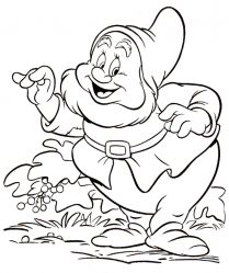 Download free printable Snow White and the Seven Dwarfs_13 coloring pages