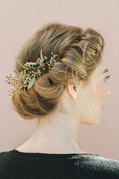 Festive Hairstyles To Dazzle 'Em All #refinery29  http://www.refinery29.com/holiday-hairstyles#slide-1  The Romantic Roll Channel your inner flower child with this easy-to-do twisted wreath look.