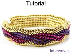 4Beaded Herringbone Bracelet Beading Pattern Tutorial