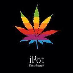 """iPot. Says it all! #slikbone #pot #maryjane #highlife #street #joint #skate #marijuana #stickerbomb #urbex #fuckthesystem #skateboard #stickers """