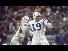 All rights belong to the NFL and its broadcaster: CBS Sports, ESPN, FOX Sports, and NBC. Football And Basketball, Football Helmets, Johnny Unitas, Nfl Hall Of Fame, Baltimore Colts, Here's Johnny, American Football Players, Nfl History, Cbs Sports