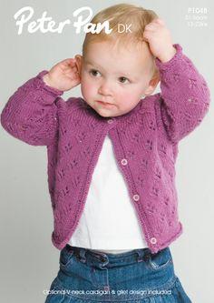 NobleKnits.com - Peter Pan DK Girls Eyelet Cardigan Knitting Pattern P1048 PDF, $5.95 (http://www.nobleknits.com/peter-pan-dk-girls-eyelet-cardigan-knitting-pattern-p1048-pdf/)