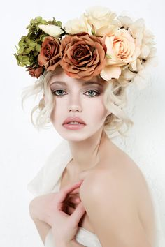Hey, I found this really awesome Etsy listing at https://www.etsy.com/listing/157526011/bridal-flower-crown-in-shades-of