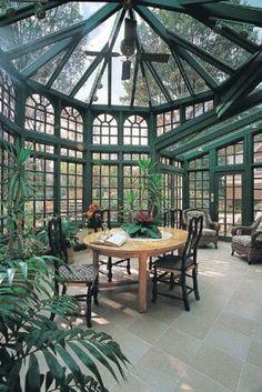 Wintergarten | Tropical Einrichtung | Grün Büro | Outside Büro | Exquisite Büro | http://wohn-designtrend.de/
