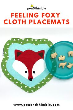 Red Fox Snack Mat Small Placemat For Toddlers Preschool Unisex Fox Kids, Unisex Gifts, Summer Picnic, Red Fox, Bento Box, Toddler Preschool, Woodland Animals, Placemat, Easter Baskets