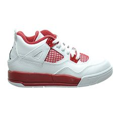 "Jordan 4 Retro BP ""Alternate 89"" Little Kid's Shoes White/Black/Gym Red 308499-106 *** Read more at the image link."