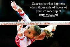 Success is what happens when thousands of hours of practice meet up at one moment.