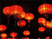 Lanterns are beautiful decorations for an Asian theme party.
