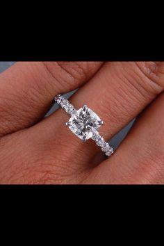 Cushion cut diamond engagement ring-perfect. My future husband better take notes