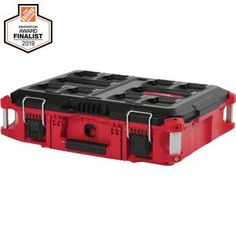 The Milwaukee 13 in. Tool Box is a great way to quickly transport tools for a job which requires the bare minimum. This tool box allows you to organize your tools and have easy access to smaller items. Tool Box Storage, Garage Storage Racks, Modular Storage, Tool Organization, Mobile Tool Box, Small Tool Box, Portable Tool Box, Small Parts Organizer, Milwaukee Tools