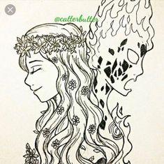 Te Ka / Te Fiti Moana Coloring Pages, Disney Princess Coloring Pages, Disney Princess Colors, Colouring Pages, Disney Tattoos, Moana Concept Art, Moana Drawing, Non Disney Princesses, Fantasy Inspiration