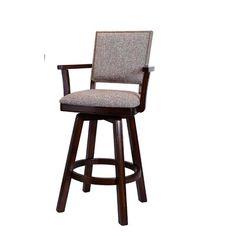 "ECI Furniture Homestead 24"" Swivel Bar Stool with Arms"