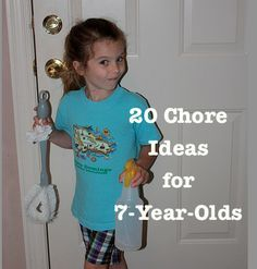 20 Chore Ideas for 7-Year-Olds - With some accommodations like extra time, I think this is a great list of ideas for the kiddo on the spectrum.