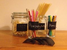 Reusable Chalkboard Sticker Labels Blackboard Vintage Jam Jar Candy Storage