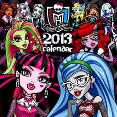 calendar 2013 monster high dolls