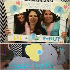 Little peanut & elephants baby shower photo booth, frames & props by Sara's Kooky Creations. https://www.facebook.com/Saras-Kooky-Creations-1685889525013732/
