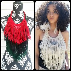 Pan African Fringe Necklace | Black Pearl Creations
