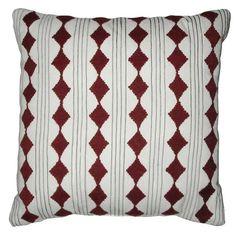 Nate Berkus Decorative Embroidered Diamond Cord Pillow